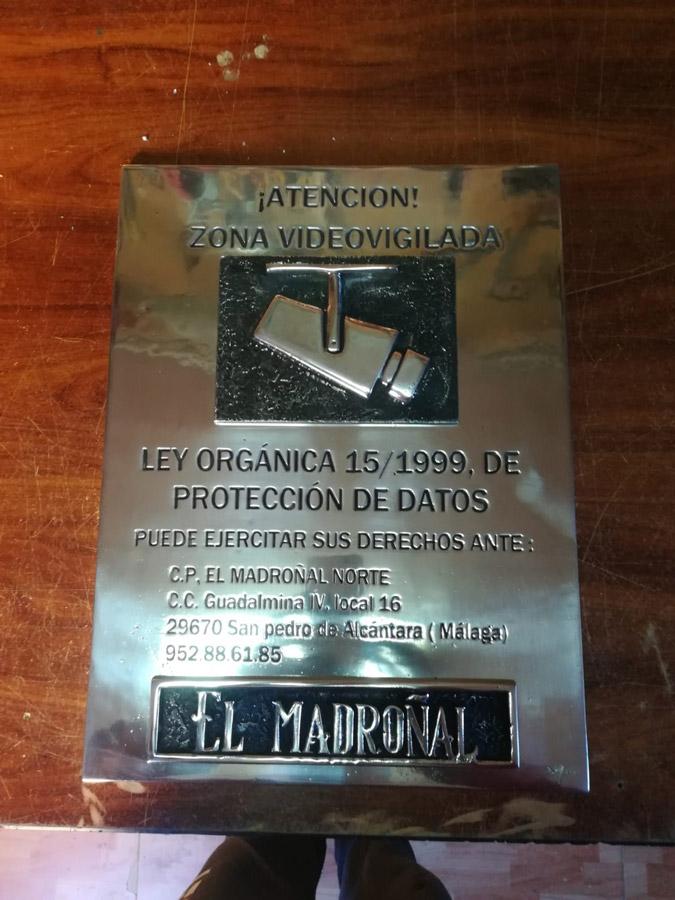 Proyecto - El Madroñal -Placa Video vigilancia
