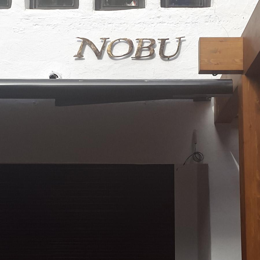 Restuarant NOBU Lettering - Letras Restaurante Nobu