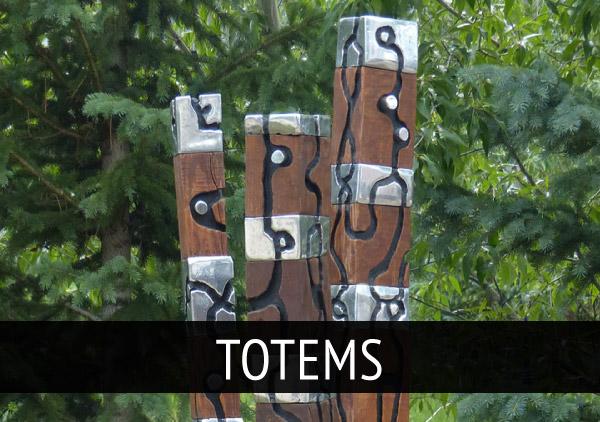 david_marshall_Sculpture_Totems