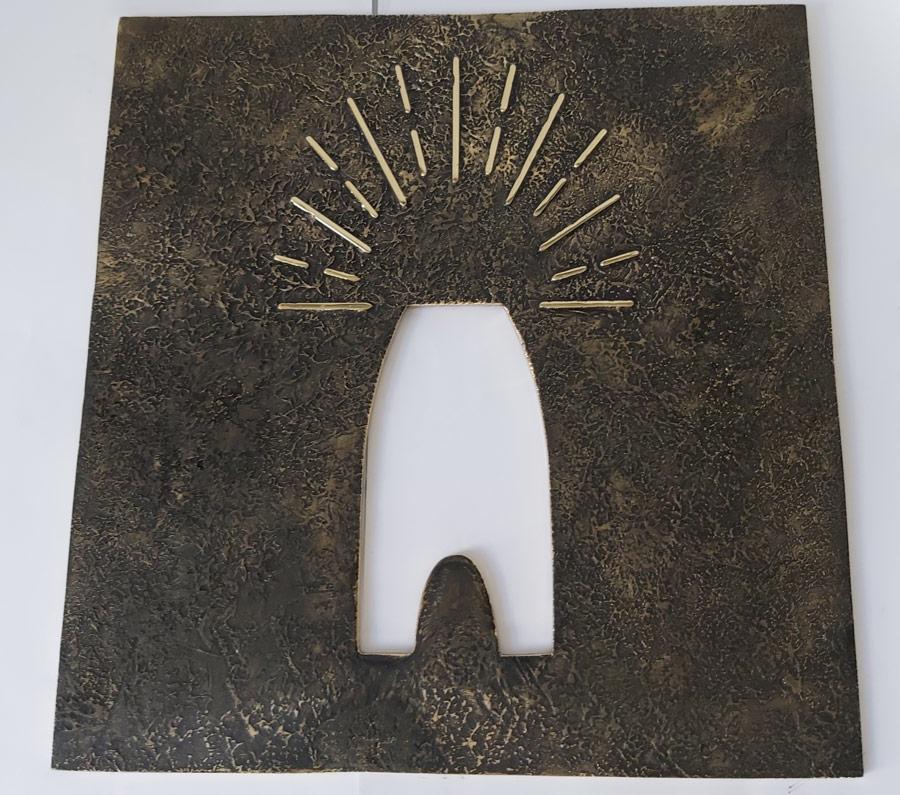 Placa Barandilla Logo VMF - Handrial Sign Logo VMF Brass