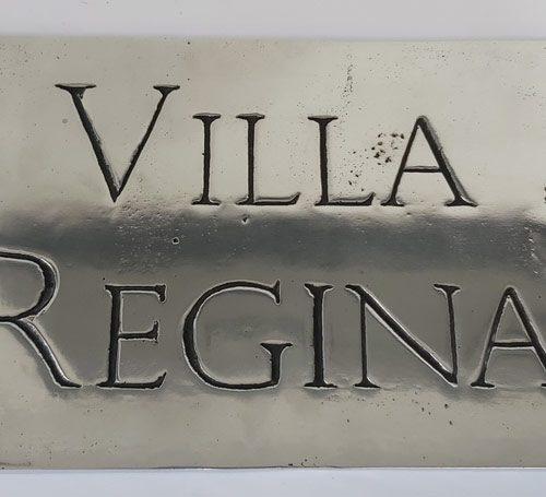 Placa VILLA REGINA - Sign VILLA REGINA Alum.
